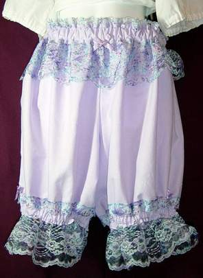 Pretty Lavendar n Lace Knee Bloomers